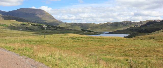 36 open landscape, Diabaig, Ruth walking the coast of NW Scotland