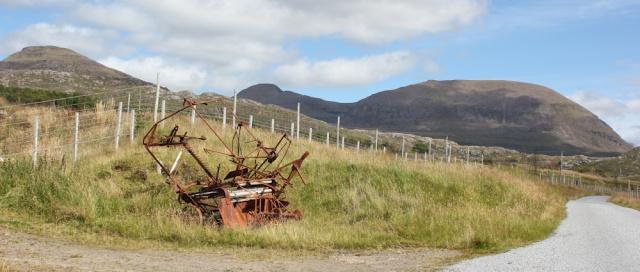 39 rusting machinery, Diabaig, Ruth walking the coast of NW Scotland