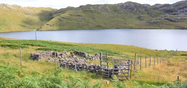 41 ruined buildings, Diabaig, Ruth walking the coast of NW Scotland